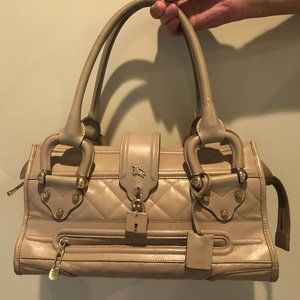Burberry Quilted Leather Large Manor Handbag